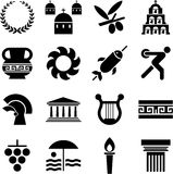Greece pictograms Royalty Free Stock Photography