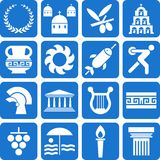 Greece pictograms Royalty Free Stock Photo