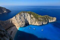greece plażowy navagio Zakynthos Zdjęcie Stock