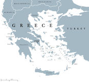 Greece political map Royalty Free Stock Photography
