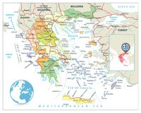 Greece Political Map Stock Photos Image - Political map of greece