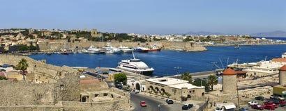 greece portowy Rhodes Zdjęcia Royalty Free
