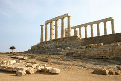 GREECE, POSEIDON TEMPLE Royalty Free Stock Photo