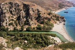 Greece Priveli beach Stock Images