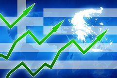 Greece prosperity concept news background illustration Stock Photos