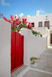 Greece red door Royalty Free Stock Image