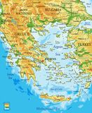 Greece relief map Royalty Free Stock Photos