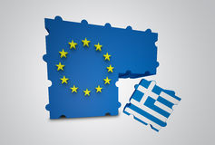 Greece removed from the European Union. Puzzle showing Greece removed from the European Union Stock Photo