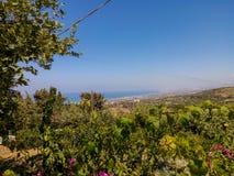 greece rethymno Lipiec 27 2016: Panoramiczny widok Rethymno dla Obrazy Stock
