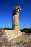 Greece, Rhodes, Acropolis, temple ruins Royalty Free Stock Photos