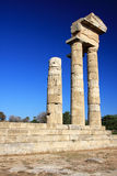 Greece, Rhodes, Acropolis, temple ruins Stock Photo