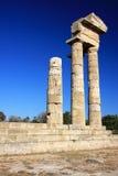 Greece, Rhodes, Acropolis, temple ruins Stock Photo