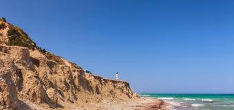 Greece,Rhodes, coastline of Mediterranean sea . royalty free stock images