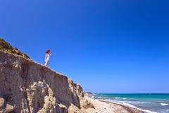 Greece, Rhodes, coastline of Mediterranean sea . royalty free stock images