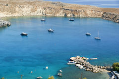 Greece, Rhodes Island, Lindos view Stock Photography