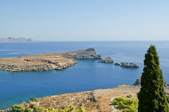 Greece, Rhodes Island, Lindos view Royalty Free Stock Images