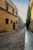 Greece, Rhodes - July 19  Street Crusaders morning on July 1, 2014 in Rhodes, Greece Royalty Free Stock Photography