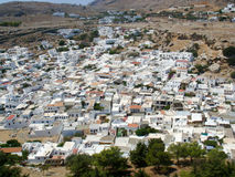 Greece Rhodes Lindos town houses Stock Photos