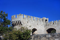 Greece, Rhodes.Wall of ancient city Royalty Free Stock Image