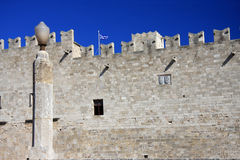 Greece, Rhodes.Wall of ancient city Stock Photos