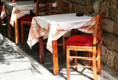 Greece. Rhodos island. An open-air cafe Royalty Free Stock Images