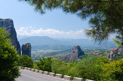 Greece, the road in Meteora Royalty Free Stock Photo