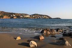 Greece rock sea Stock Images