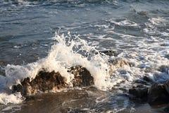 Greece rock sea Royalty Free Stock Photos