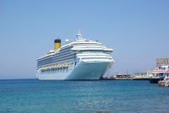 Greece, Rodos. Greece Rodos, Rodos Port Ocean Ship Stock Image
