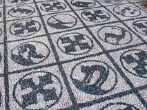 Greece Rodos, Rodos town Mozaic. Greece Rodos, Rodos town, old castle by Order of Malta Mozaic masterpieces for your feet Royalty Free Stock Image