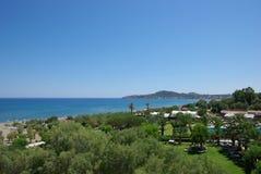 Greece, Rodos. Greece Rodos Sea View with Mountains Royalty Free Stock Photo