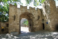 Greece, Rodos. Greece Rodos, Rodos town, old castle by Order of Malta Royalty Free Stock Images