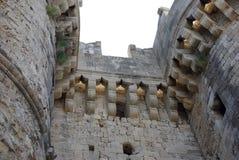 Greece, Rodos. Greece Rodos, Rodos town, old castle by Order of Malta Tower Stock Photos