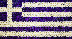 Greece`s flower made flag Royalty Free Stock Photo