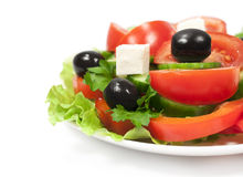 Greece salad close up Stock Images