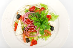 Greece salad dish Stock Photo