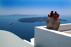 greece santorini royaltyfria foton