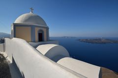 Greece, Santorini, Fira Royalty Free Stock Image