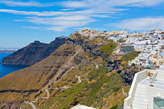 Greece, Santorini, Fira town Royalty Free Stock Images