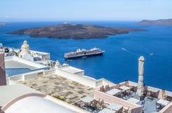 Beautiful sea view, Santorini, Greece Stock Image