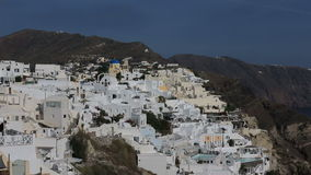 Greece Santorini island in Cyclades at summer, the most famous sunset in the world over the sea. stock footage