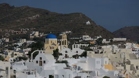 Greece Santorini island in Cyclades at summer, the most famous sunset in the world over the sea. stock video