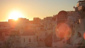 Greece Santorini island in Cyclades at summer. The most famous sunset in the world over the sea. stock video
