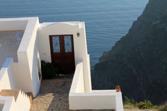 Greece Santorini island door to nowhere Royalty Free Stock Photography
