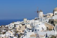 Greece Santorini Island mill in the village of Oia Stock Photography