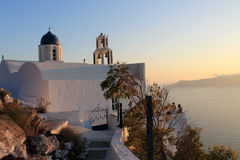 Greece Santorini island sunset Royalty Free Stock Images