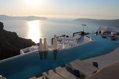 Greece Santorini island village Aya Royalty Free Stock Photo