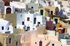 Greece santorini lagoon houses Royalty Free Stock Photo