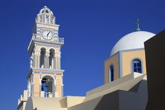 Greece santorini lagoon tower Royalty Free Stock Photo