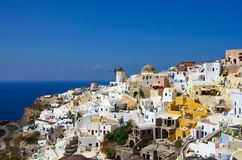 GREECE, SANTORINI, OIA TOWN. Santorini, Greece. Beautiful landscape, sunny summer day Stock Photos